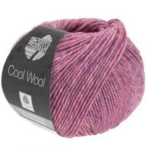Lana Grossa Cool Wool 7130 rosa polveroso screziato: filato invernale in pura lana merino - Amici di Maglia