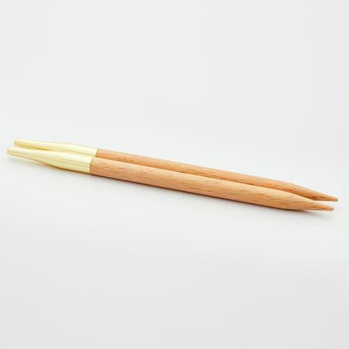 KnitPro Basix Birch: punte intercambiabili in legno per ferri circolari in diverse misure - Amici di Maglia