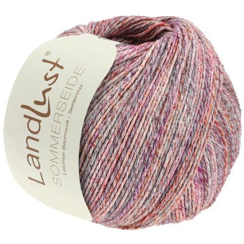 Lana Grossa Landlust Sommerseide 102 rosa mélange: filato pregiato in seta e cotone - Amici di Maglia