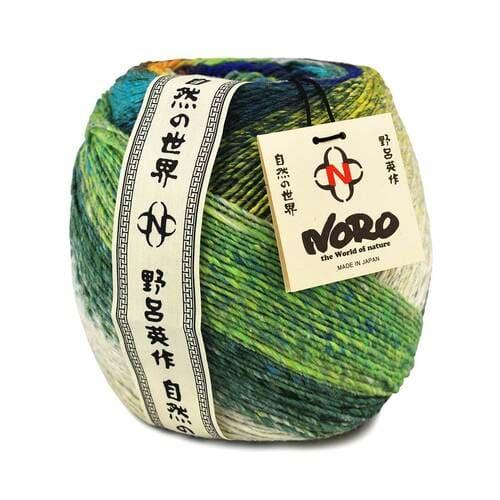 Noro Tsubame gomitolo multicolore per lavoro a maglia: filato pregiato autorigante in seta e lana - Amici di Maglia