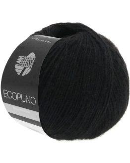 filato cotone lana lana grossa ecopuno nero amici di maglia