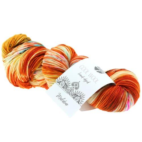 Lana Grossa Cool Wool Hand Dyed 101 Malabar: filato pregiato tinto a mano in pura lana merino - Amici di Maglia