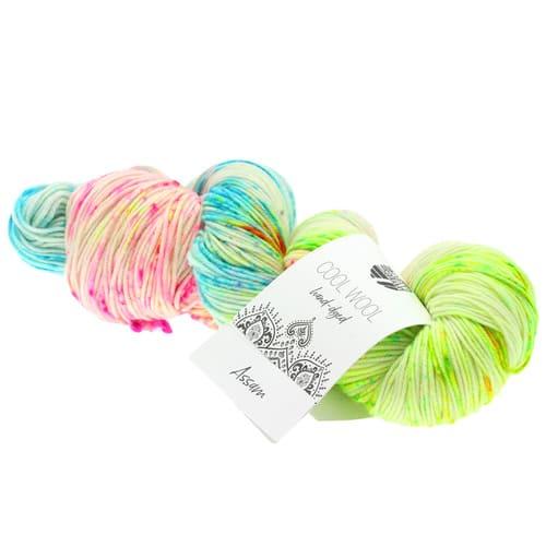 Lana Grossa Cool Wool Hand Dyed 103 Assam: filato pregiato tinto a mano in pura lana merino - Amici di Maglia