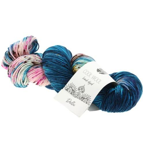 Lana Grossa Cool Wool Hand Dyed 104 Delhi: filato pregiato tinto a mano in pura lana merino - Amici di Maglia