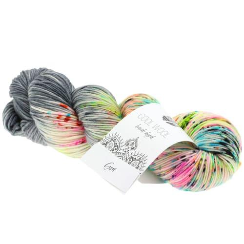 Lana Grossa Cool Wool Hand Dyed 105 Goa: filato pregiato tinto a mano in pura lana merino - Amici di Maglia