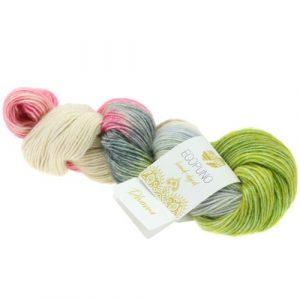 Lana Grossa Ecopuno Hand Dyed 510 dharma: filato prezioso in cotone e baby alpaca - Amici di Maglia