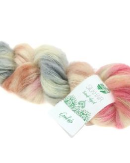 Lana Grossa Silkhair Hand Dyed 610: prezioso filato in mohair superkid e seta tinto a mano - Amici di Maglia