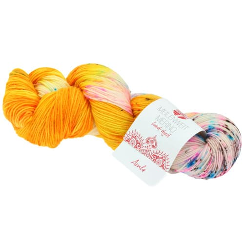 Lana Grossa Meilenweit 100 Merino Hand Dyed 2 Amla: filato pregiato tinto a mano in lana vergine merino - Amici di Maglia