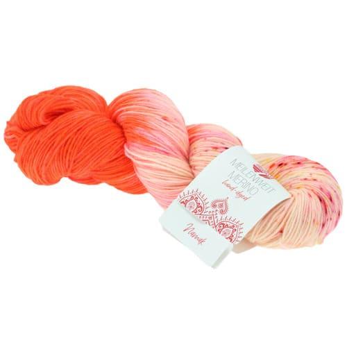 Lana Grossa Meilenweit 100 Merino Hand Dyed 4 Namak: filato pregiato tinto a mano in lana vergine merino - Amici di Maglia