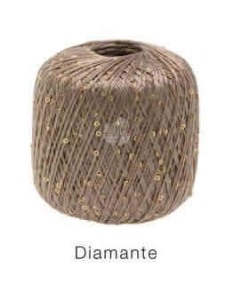 Lana Grossa Diamante 11 tortora: filato in lurex - Amici di Maglia