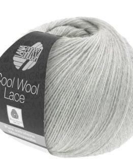 Lana Grossa Cool Wool Lace 27 grigio chiaro: filato pregiato invernale in pura lana merino - Amici di Maglia