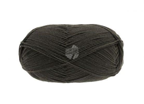 Lana Grossa Meilenweit 100 Merino Extrafine Uni 2401 grigio marrone: filato invernale per calze - Amici di Maglia