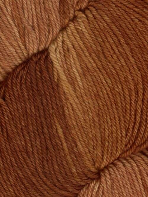 Araucania Huasco Sock Kettle Dyes matassa 1004 Acorn: filato pregiato tinto a mano in lana merino - Amici di Maglia