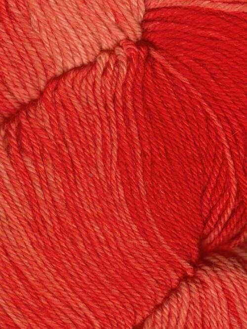 Araucania Huasco Sock Kettle Dyes matassa 1009 Scarlet: filato pregiato tinto a mano in lana merino - Amici di Maglia