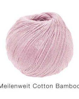 Filato per calze in lana e cotone Lana Grossa Meilenweit Cotton Bamboo rosa Amici di Maglia