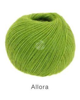 Lana Grossa Allora verde chiaro: filato prezioso in cotone, alpaca e lana merino - Amici di Maglia