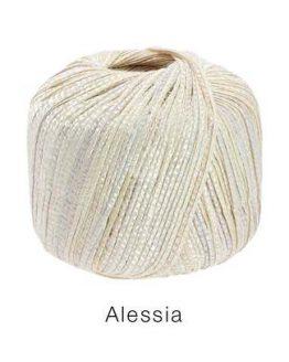 Lana Grossa Alessia crema: filato in cotone - Amici di Maglia