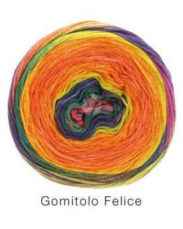 Filato estivo in cotone multicolore Lana Grossa Gomitolo Felice 711 Amici di Maglia