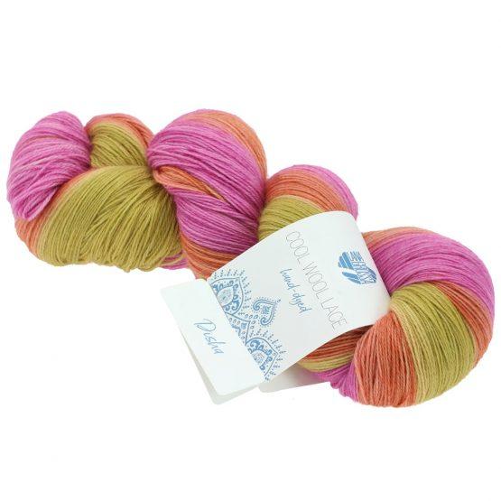 Filato in pura lana vergine Merino Lana Grossa Cool Wool Lace Hand Dyed 801 Amici di Maglia