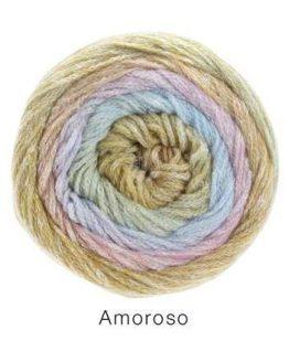 Filato prezioso in lana e seta Lana Grossa Amoroso 02 Amici di Maglia