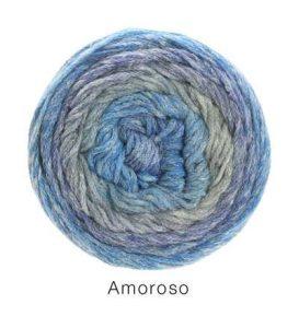 Filato prezioso in lana e seta Lana Grossa Amoroso 04 Amici di Maglia