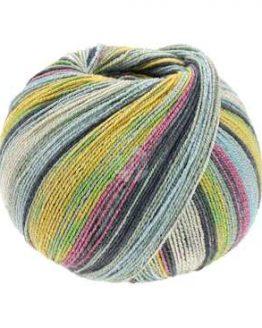 Lana Grossa Meilenweit 100 Cotton Bamboo Limone 2366: filato per calze - Amici di Maglia