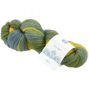 Lana Grossa Cool Wool Lace Hand Dyed 814 Asha: pregiato filato naturale tinto a mano in pura lana vergine merino - Amici di Maglia