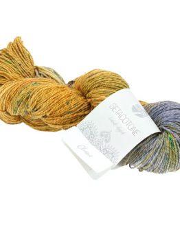 Lana Grossa Seta Cotone Hand Dyed 902 Chana: prezioso filato estivo in seta e cotone tinto a mano - Amici di Maglia