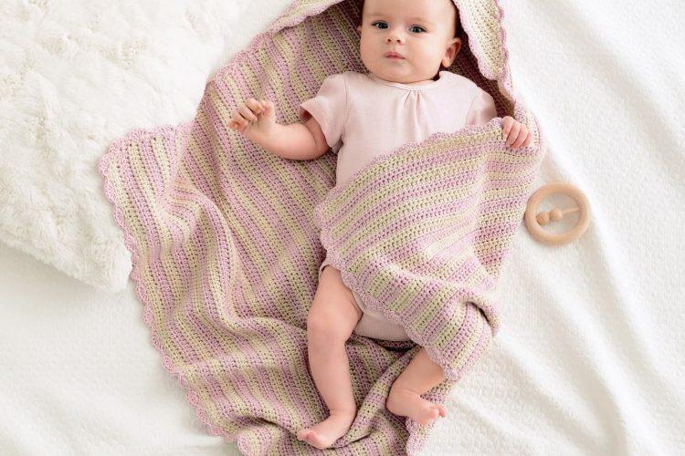 Copertine ai ferri da neonato: Mod 16 Infanti Edition 01 realizzata con Lana Grossa Soft Cotton - Amici di Maglia