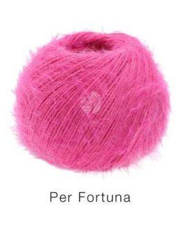 Lana Grossa Per Fortuna rosa acceso: filato estivo in cotone organico - Amici di Maglia
