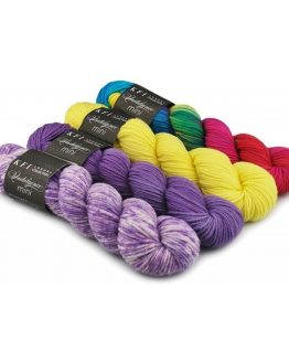 KFI Indulgence Mini Kit: kit di 4 mini matasse in pura lana superwash - Amici di Maglia