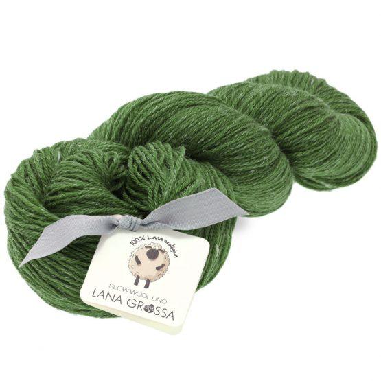 Lana Grossa Slow Wool Lino verde: filato in lana merino e lino - Amici di Maglia