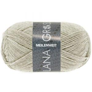 Lana Grossa Meilenweit Uni 50 1301 beige chiaro screziato: filato invernale per calze - Amici di Maglia