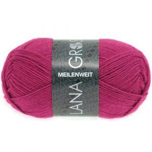 Lana Grossa Meilenweit Uni 50 1313 garofano rosa: filato invernale per calze - Amici di Maglia