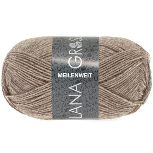 Lana Grossa Meilenweit Uni 50 1359 tortora: filato invernale per calze - Amici di Maglia