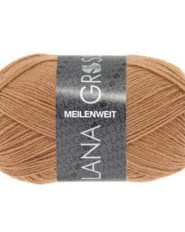 Lana Grossa Meilenweit Uni 50 1379 cammello: filato invernale per calze - Amici di Maglia
