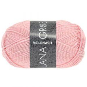 Lana Grossa Meilenweit Uni 50 1381 rosa: filato invernale per calze - Amici di Maglia