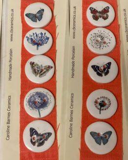 CB Ceramics Butterflies: set di bottoni in ceramica dipinti a mano - Amici di Maglia