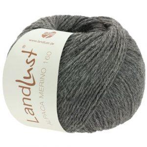 Lana Grossa Landlust Alpaca Merino 160 408 grigio scuro: prezioso filato invernale in pura lana vergine merino e baby alpaca - Amici di Maglia