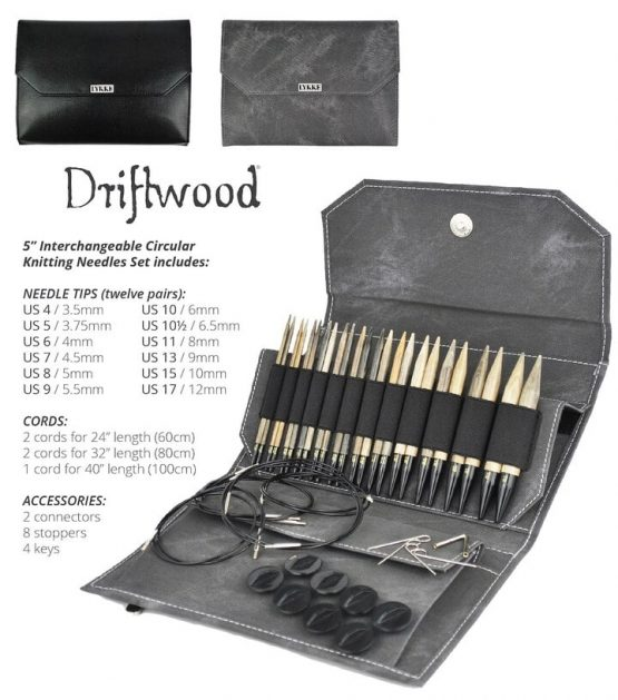 Lykke Driftwood Set di punte da 12,5 cm intercambiabili per ferri circolari in legno di betulla - Amici di MAglia