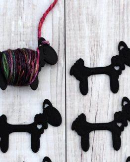Crafty Flutterby Sensational Sheep nere grandi: navette per avvolgere il filato in attesa nella lavorazione a più colori a maglia e uncinetto – Amici di Maglia