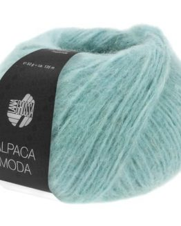Lana Grossa Alpaca Moda 07 blu ghiaccio: filato pregiato in lana vergine merino e alpaca - Amici di Maglia