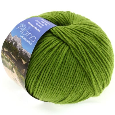 Lana Grossa Alpina 17 verde chiaro: morbido filato invernale in lana vergine superwash ideale per lavorare con uncinetto da 3.5 a 4.5 mm capi per neonati e bambini - Amici di Maglia