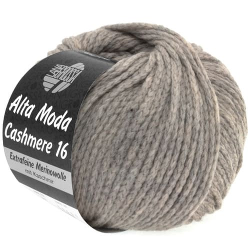 Lana Grossa Alta Moda Cashmere 03 tortora: filato pregiato in cashmere e lana merino - Amici di Maglia