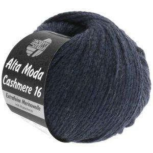 Lana Grossa Alta Moda Cashmere 11 blu notte: filato pregiato in cashmere e lana merino - Amici di Maglia