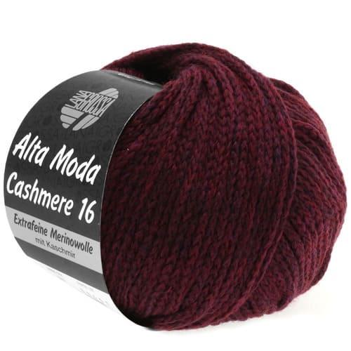 Lana Grossa Alta Moda Cashmere 27 borgogna: filato pregiato in cashmere e lana merino - Amici di Maglia