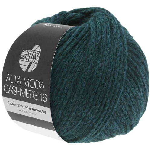 Lana Grossa Alta Moda Cashmere 37 petrolio scuro: filato pregiato in cashmere e lana merino - Amici di Maglia