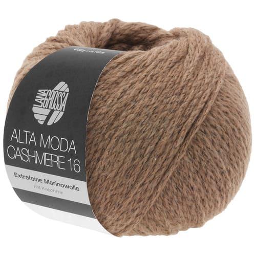 Lana Grossa Alta Moda Cashmere 48 marrone chiaro: filato pregiato in cashmere e lana merino - Amici di Maglia