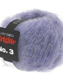 Lana Grossa Brigitte No. 3 06 viola: filato pregiato in mohair e lana vergine - Amici di Maglia