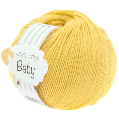 Lana Grossa Cool Wool Baby 273 giallo: filato di alta qualità in pura lana merino superwash perfetto per lavori per neonati e bambini con un uncinetti da 2.5 a 3 mm - Amici di Maglia
